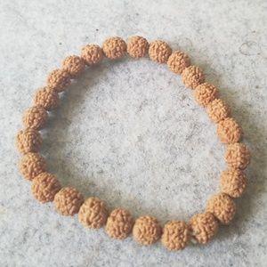 8mm Natural Wood Tibetan Bracelet